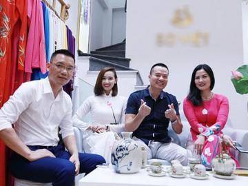 Diễn viên Thuý Hà đằm thắm hội ngộ Phan Anh trong tà áo dài Việt