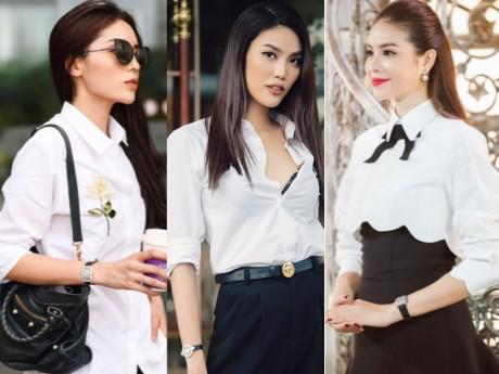 Mặc áo sơ mi trắng vừa thanh lịch vừa quyến rũ như Hoa hậu để diện Tết đúng điệu!