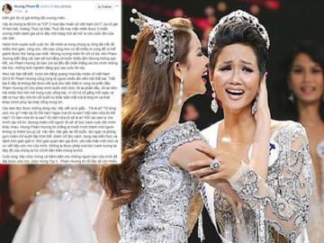 Trao vương miện cho H'hen Niê, song Phạm Hương lại gửi lời nhắn nhủ 39 thí sinh còn lại
