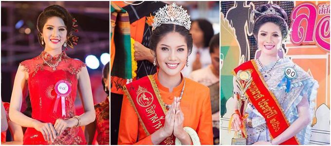 """my nhan cao 1m8 """"thi dau thang do"""" dang quang hoa hau hoa binh thai lan 2018 - 4"""