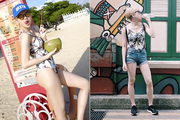 cung mot set do bikini ngoc trinh khoe dang quyen ru con minh hang dien han ra pho - 6