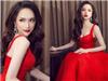 Cứ mỗi lần diện váy đỏ là Hoa hậu Hương Giang khiến fans đứng ngồi không yên
