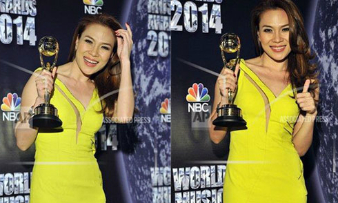 Mỹ Tâm nhận giải thưởng World Music Awards tại Monaco