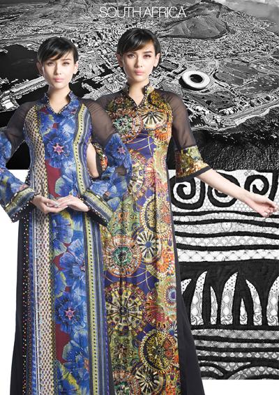 Áo dài Việt thể hiện vẻ đẹp thế giới