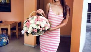 Hà Anh khoe váy cotton 200 ngàn đồng