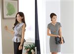 Thời trang công sở nữ sành điệu với đen và trắng