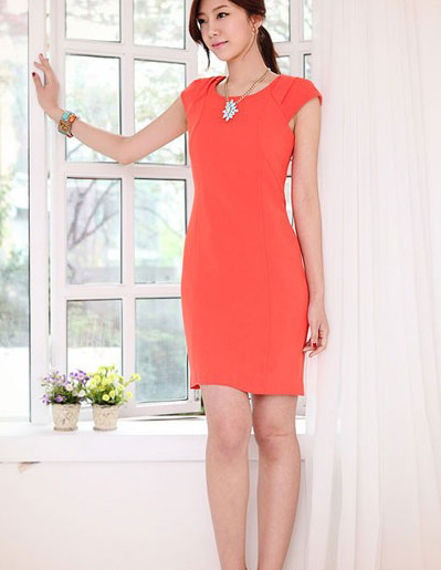 Váy một màu thanh lịch chốn công sở