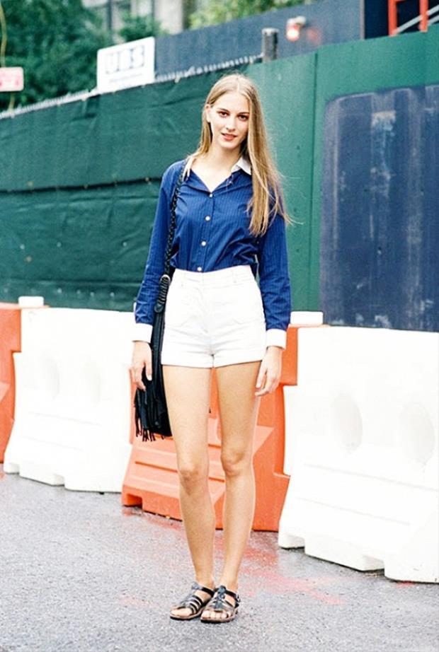 Những phong cách mặc short đơn giản, thời trang